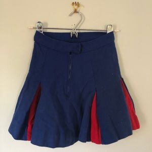 Vintage Blue & Red Cheerleader Skirt